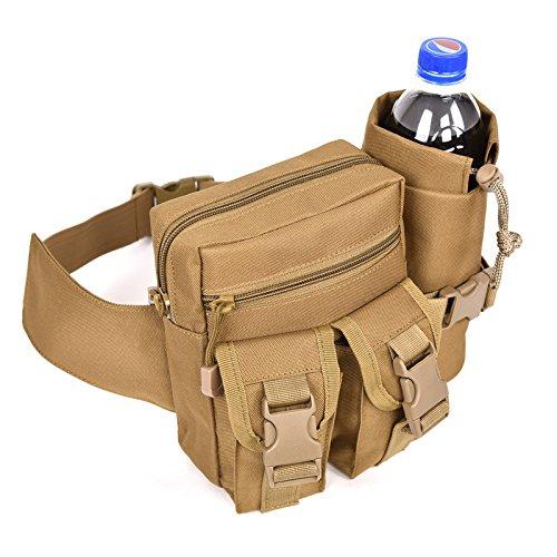 LLCSDR Cintura Pack Kit Multifunción Tácticas De Camuflaje Exterior Viajando Hervidora Cintura...