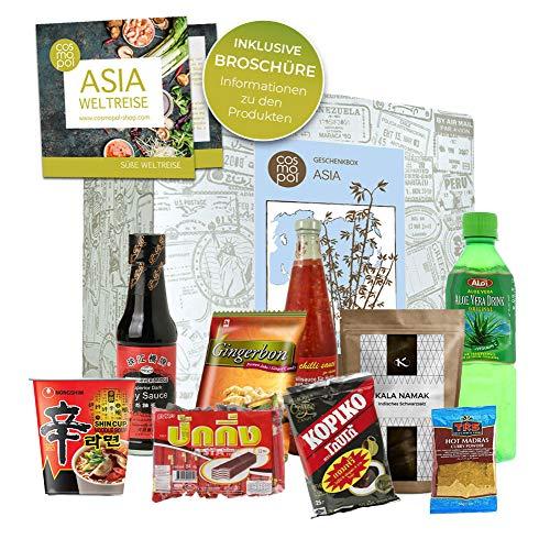 Besonderes Geburtstagsgeschenk Asia Box | Lebensmittel aus den verschiedensten Ländern Asiens | Asiatische Süßigkeiten tolles Geschenk zum Geburtstag