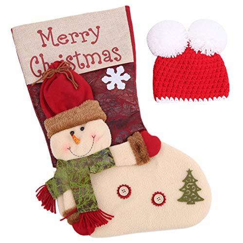 Da Dini Bebé Fotografía Accesorios Tema De Navidad Sombrero De Dormir Sombrero Foto Tiro De Fotos Disfraces Recién Nacidos Muñeco De Nieve