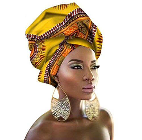 African Traditional Wax Print Head wrap Scarf, Women Multi-Color Headband
