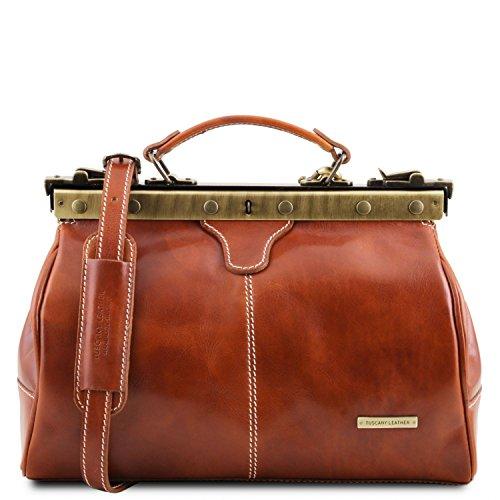 Tuscany Leather - Michelangelo - Maulbügel- Arzttasche aus Leder Honig - TL10038/3