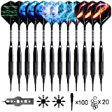 WIN.MAX Darts Plastic Tip,Soft Tip Darts Set,12 Pcs 18 Gram with 100 Extra Dart Tips,12 Flights, Flight Protectors and Tool Kit for Electronic Dart Board