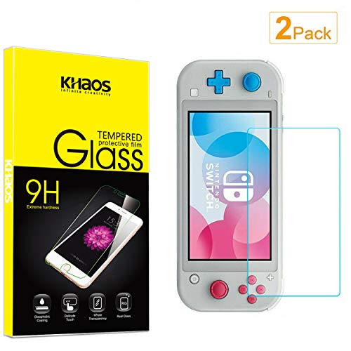 [2 Pack] Khaos for Nintendo Switch Lite Tempered Glass Screen Protector, Scratch Resistant, Bubble Free