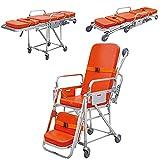 BILXXY Camilla de Ambulancia de Primeros Auxilios médicos, Camilla de Rescate de Emergencia hospitalaria, Carro con Ruedas, Capacidad de Carga 159 kg