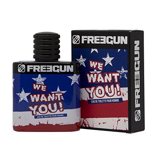 Eau de Toilette FREEGUN We Want You– que nous vous pour les jeunes et audacieux pour homme, 50 ml + Attention : arme de Séduction de masse