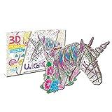 Huaxingda Juego de rompecabezas para colorear 3D, rompecabezas de animales con 10 marcadores de pluma, arte para colorear pintura 3D Puzzle para niños Edad 7 8 9 10 11 12