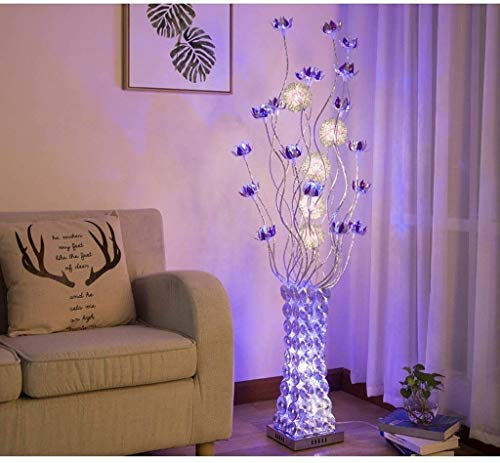 Lámpara de pie Lámpara de pie Moderna Decoración idílica Florero Creativo Simple y Moderno Salón Dormitorio Lámpara de Regalo LED (Decoración del hogar)