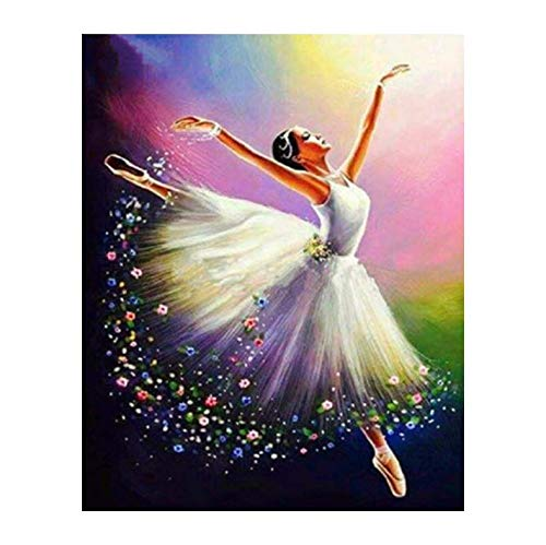 Pintura Diamante Bricolaje Fotos Ballet Girl Kits Dibujo Lienzo Pintado a mano Mosaico Pintura Bailarina Figura Decoración para el hogar A2 40 x 50cm
