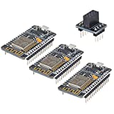 Makerhawk 3pcs ESP8266 NodeMCU Lua CP2102 ESP-12F Tarjeta de Desarrollo de Internet WiFi Módulo inalámbrico en Serie para Arduino IDE/Micropython Nueva versión