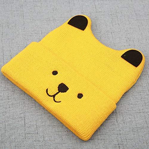 ZSNB Cute Toddler Beanie Ski Cap para niñas, bebés, bebés, Invierno, cálido, Crochet, Gorro de Punto, niños, Casuales, cálidos y elásticos, Gorras