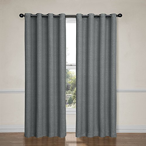 Eclipse Bobbi Grommet Blackout Panel de Cortina de Oscurecimiento para Ventana, 132.1 x 241.3 cm, Pewter