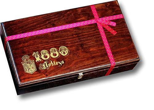 1880 Caja Regalo 'nobleza' Contiene Un Amplio Surtido De Turrones, Dulces Y Chocolates Estrella De   Calidad Suprema Presentado En Elegante Caja De Madera Noble,pack Selecto 3240 G, Almendra