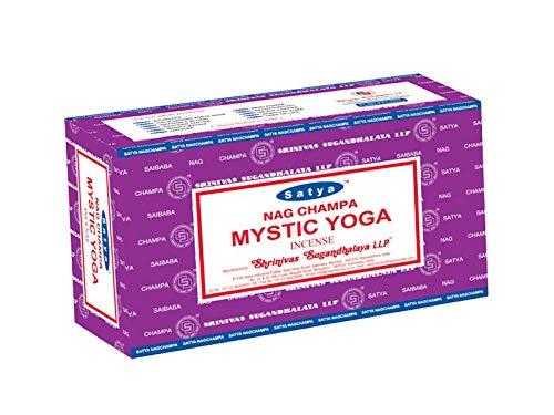 Varillas de incienso Satya Nag Champa, muchos aromas, 12 unidades de 15g, MYSTIC YOGA