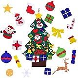 ROOYA BABY Albero di Natale in Feltro per Bambini Decorazione da Appendere, 30 Pezzi Natale Partito DIY Parete Appeso Ornamento per Bambini Regalo Casa Ufficio Negozio Finestra Decor
