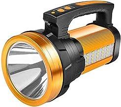 LKNJLL Bright Rechargeable Searchlight Portable Handheld Flashlight LED Tactical Flashlight With Handle L2 Spotlight 3000 ...