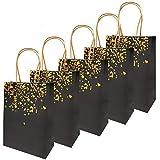 20 Piezas Bolsas de papel kraft con asas hechas de papel kraft respetuosas con el medio ambiente y más duraderas(15 *...
