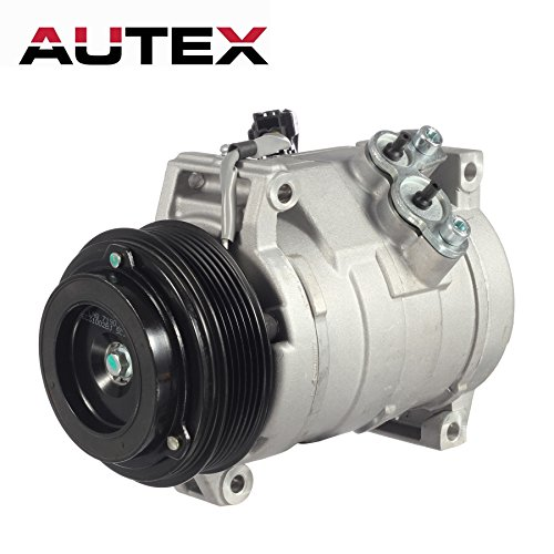 AUTEX AC Compressor & A/C Clutch Compatible with Traverse Compatible with Acadia Compatible with Enclave Compatible with Outlook 3.6L 2007 2008 2009 2010 2011 2012 CO 21625C 15926085 157313