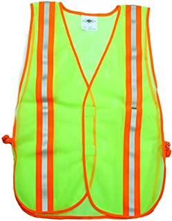 Carolina Glove & Safety 40004 Fluorescent Green Safety Mesh Vest, 1