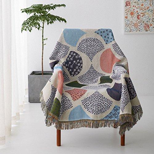 Dekorative Ginkgo Biloba Jacquard Quasten Decke Sofa Handtuch Sofa Stuhlabdeckung Tischdecke Warme Schonbezug,160 * 260