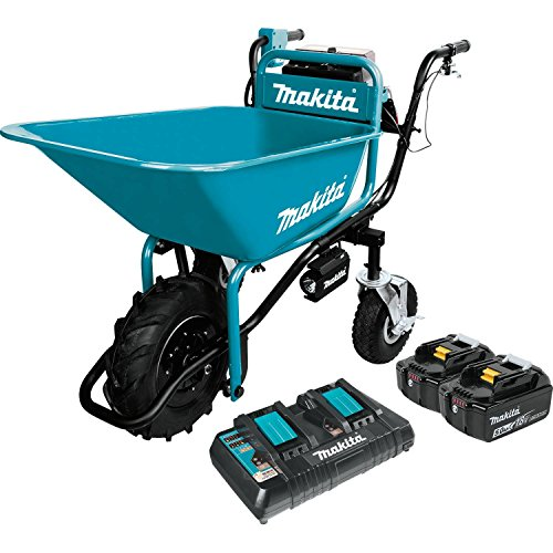 Makita XUC01PTX1 18V X2 LXT Brushless Cordless Power-Assisted Wheelbarrow Kit (5.0Ah)