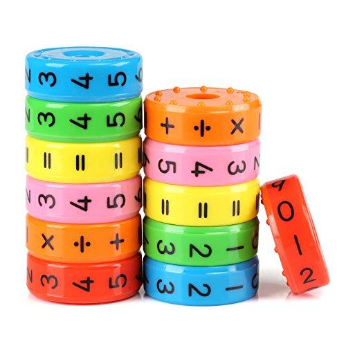 Kesote 2 Stück Lernspielzeug Mathematik Rechenrolle Einschulung Mathe Lernen Rechnen Spielzeug Schulanfang