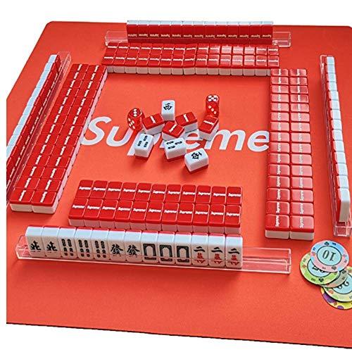 Gogh Suprema Extra Portable Linda Mahjong Travel Set Completo con 45 * 45CM...
