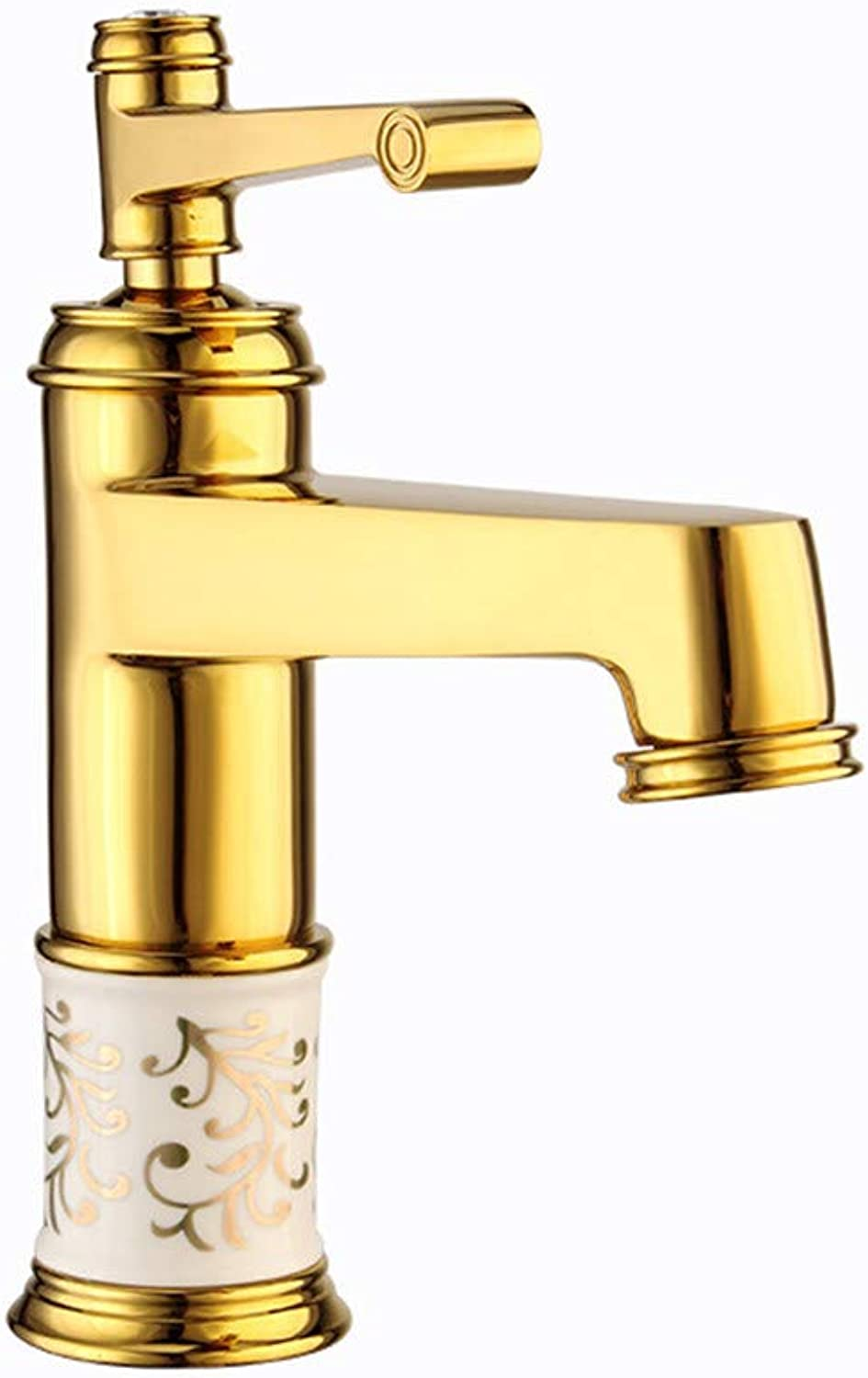 Copper Ceramic Faucet hot and Cold Water Mixing Basin Faucet Faucet