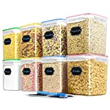 Blingco Cereal Container Food Storage Containers, Set of 8 (2.5L/84.55oz) Airtight Dry Food Storage Containers with Lids - BPA Free Plastic for Flour, Sugar, Cereal and Pantry Storage Containers