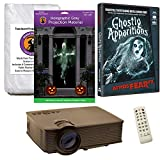 Halloween Window Projection Kit Includes 1900 Lumen Projector, 2 High Resolution Projection Screens (R/D) and AtmosFEARFx Ghostly Apparitions on DVD