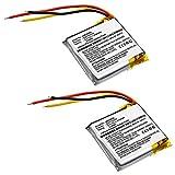 subtel® 2X Batería de Repuesto GSP753030 para JBL E45BT, Everest Elite 300, Accu Auriculares inalambricos 610mAh