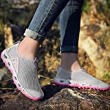 Aerlan Men's and Women's Sports Shoes,Zapatillas con Suela pisada,Zapatos de Senderismo Zapatos Casuales Senderismo Calzado Deportivo al Aire Libre-Gris Claro_43#