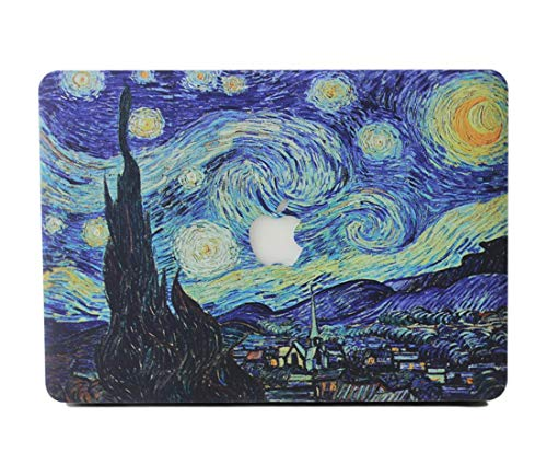 RQTX Funda Duro MacBook Air 13 Portátiles Accesorios Plástico Rígida Carcasa con la Cubierta Transparente del Teclado para Apple MacBook Air 13 Pulgadas Modelo A1932,Noche Estrellada