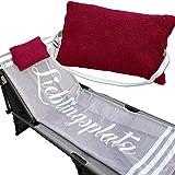 Kissen gefüllt mit Gummizug verstellbar und abnehmbarem Bezug Multikissen für Sonnenliegen Stühle...