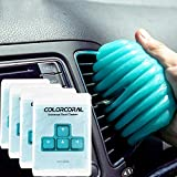 ColorCoral Dust Cleaner Keyboard Cleaning Gel Universal Cleaning Gadget Slime for Car Cleaning and Computer Dusting (4Pack)