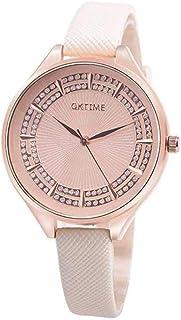 Vendita di liquidazione, Scpink unico Diamond-borchiati quadrante in acciaio inox, cinturino in pelle ultra-fine, orologio...