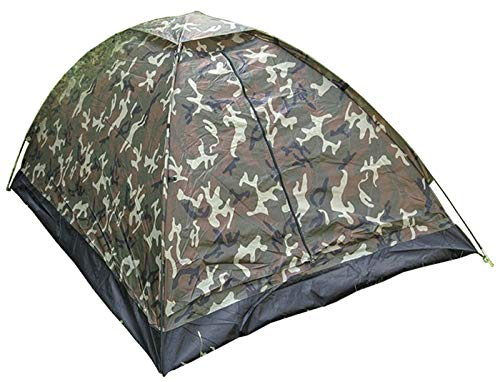 TENTE DE CAMPING IGLOO 2 PLACES CAMO CAMOUFLAGE WOODLAND ETANCHE MILTEC 14208020 AIRSOFT