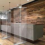 Mampara De Protección Mampara Enrollable Instalación Sencilla Y Rápida Separador Para Restaurantes Bares Hosteleria 80X200cm