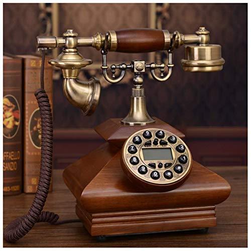 Línea Fija Hecho a Mano Sólido Antiguo Teléfono Retro Paño Cuerda Línea Línea Teléfono Teléfono Americano Hand-Free Inicio Teléfono Clásico Teléfono Línea Línea (Tamaño: A) (Tamaño: A) (Size : C)