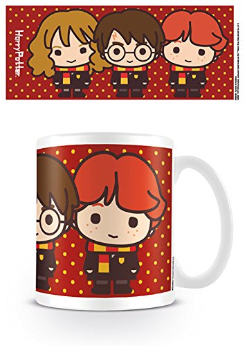 Pyramid International Harry Potter - Taza Chibi Harry Ron Hermione, 320 ML