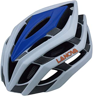 XuBa Bicycle Helmet Integrated Mountain Bike Helmet Blue and White Carbon Fiber L: 58-61CM