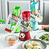 Toopower 3 en 1 Cortador de Vegetales manuales Relador de Queso de Papa Multifuncional para Verduras Gadgets de Cocina y Accesorios de Cocina (Color : Green)