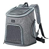 Petsfit Haustier-Reise-Rucksack mit Kopfluke, Tragerucksack für Hunde Doppelte Schulterriemen Haustier-Fördermaschinen Beutragerucksack für Hunde, Blau, 30cm x 24cm x 41cm