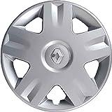 1 tapacubos para rueda de 14 pulgadas Clio desde 2001 en adelante, logotipo cromado, no original, individual 8901