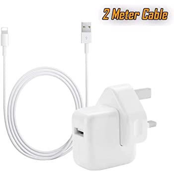 OEM 12W USB Power Adapter Wall Charger for Apple iPhone X 8 7 6 5 iPad 2 3 4 Air