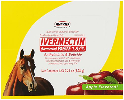 Durvet 12-Pack Ivermectin Dewormer Paste for Horses