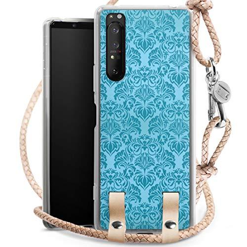 DeinDesign Carry Case kompatibel mit Sony Xperia 1 II Hülle mit Kordel aus Leder Handykette zum...
