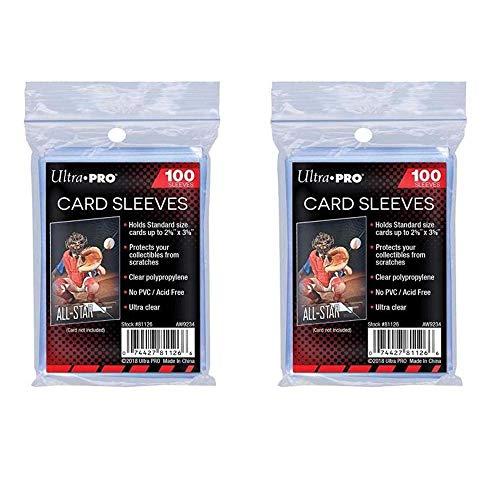 Ultra Pro Standard Regular Soft 200 Stück Penny Kartenfolien Kartenhüllen Sleeves - für Sammelkarten wie Pokemon Magic Sportkarten- Standardgröße, transparent
