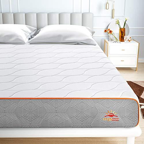 Maxzzz Colchon Viscoelastico Gel 90x190x20CM Colchón de Espuma de Carbón de Bambú Diseño de Ventilación Colchón con Funda Lavable Hipoalergénico y Antiácaros