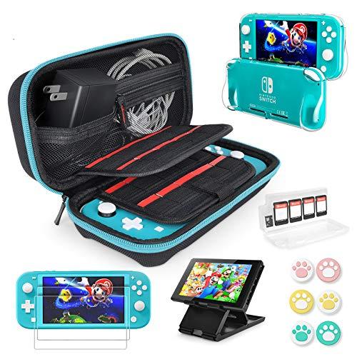 Accessoires Switch Lite - Étui de Protection et Protecteur d'écran, Convient à la Console Nintendo Switch Lite, au Support de Table, à la Housse de Poignée en TPU, à 6 Pouces, etc.