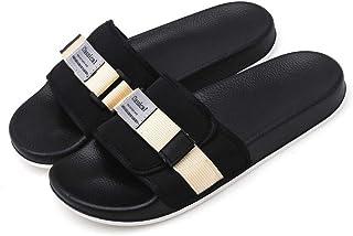 Wilindun 夏季新款时尚家居室外织带拖鞋防滑一字拖鞋